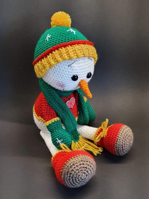 amigurumi heklanje lutka snjegović